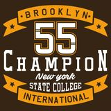 Campione di Brooklyn di progettazione Fotografie Stock