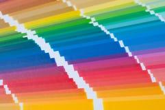 Campione di colore, catalogo Tavolozza colorata di pittura fotografia stock