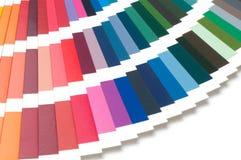 Campione di colore, catalogo Tavolozza colorata di pittura fotografie stock