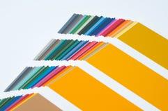 Campione di colore, catalogo Tavolozza colorata di pittura immagine stock