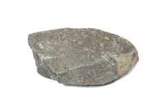 Campione di una roccia nera dell'ardesia fotografie stock libere da diritti