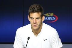 Campione Juan Martin Del Porto del Grande Slam dell'Argentina durante la conferenza stampa Immagine Stock