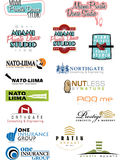 Campione Logo Set 5 Immagine Stock Libera da Diritti