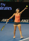 Campione Martina Hingis del Grande Slam della Svizzera nell'azione durante la partita finale dei doppi all'Australian Open 2016 Fotografia Stock