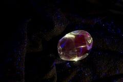 Campione minerale fluorescente di acquamarina Fotografia Stock