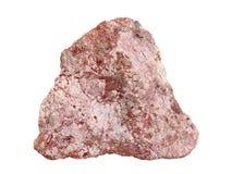 Campione naturale della roccia della breccia da calcare e da marna con il cemento dell'carbonato-argilla su fondo bianco Immagine Stock