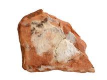 Campione naturale della roccia di claystone o dell'argillite su fondo bianco Immagini Stock Libere da Diritti