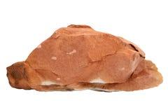 Campione naturale della roccia di claystone o dell'argillite su fondo bianco Immagine Stock Libera da Diritti