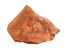 Campione naturale della roccia di claystone della siltite su fondo bianco Fotografia Stock