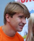 Campione olimpico nella la figura pattinare Alexei Yagudin Immagini Stock