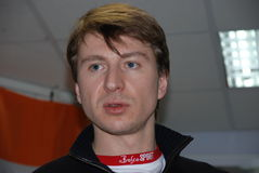 Campione olimpico nella la figura pattinare Yagudin fotografia stock