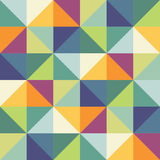 Campione senza cuciture del modello di vettore Triangoli geometrici tavolozza d'avanguardia verde Immagini Stock