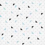 Campione senza cuciture del modello di vettore Triangoli geometrici tavolozza d'avanguardia verde Fotografia Stock