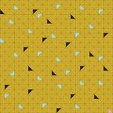 Campione senza cuciture del modello di vettore Triangoli geometrici tavolozza d'avanguardia verde Fotografie Stock