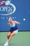 Campione Svetlana Kuznetsova del Grande Slam dalla Russia durante la partita del giro di US Open 2014 in primo luogo Fotografia Stock