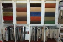 Campioni del tappeto in un negozio Immagine Stock
