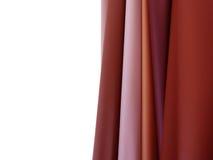 Campioni del tessuto su fondo bianco Fotografie Stock