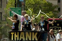 Campioni della coppa del Mondo della FIFA - squadra di calcio del cittadino delle donne degli Stati Uniti Immagine Stock Libera da Diritti