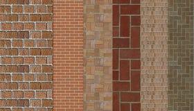 Campioni della muratura illustrazione vettoriale