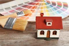 Campioni della tavolozza di colore, modello della casa Fotografie Stock