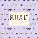 Campioni delle farfalle con spazio per testo illustrazione vettoriale
