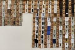 Campioni di ceramico sulla parete Immagine Stock Libera da Diritti