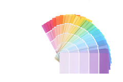 Campioni di colore dei campioni della vernice per ritoccare Fotografie Stock Libere da Diritti