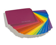 Campioni di colore del progettista Immagine Stock