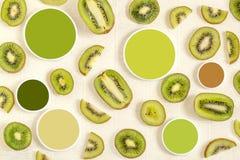 Campioni di colore e del kiwi Fotografie Stock