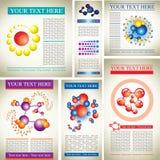 Campioni di disegno con le molecole Immagini Stock Libere da Diritti