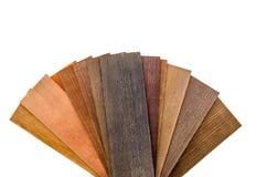 Campioni di legno dei ciechi isolati fotografia stock