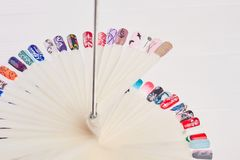 Campioni di progettazione di colore dell'unghia del manicure Immagine Stock Libera da Diritti