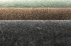 Campioni di tappeto in rotolo Fotografia Stock