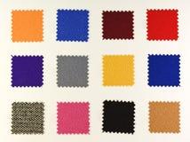 Campioni di tessuto colorati Fotografia Stock Libera da Diritti
