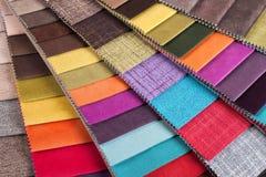 Campioni di tessuto colorati Immagine Stock