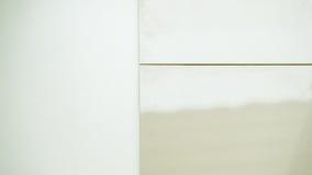 Campioni di un ceramico su fondo bianco Fotografia Stock