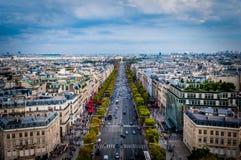 Campioni Elysees Parigi Fotografia Stock Libera da Diritti