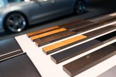 Campioni interni automobilistici dei materiali Immagini Stock
