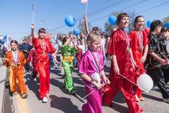Campioni sulla ginnastica cinese di WUSHU Fotografia Stock