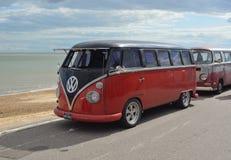 Campista clássico Van da VW imagens de stock