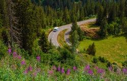Campista Van Summer Travel Imágenes de archivo libres de regalías