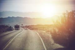 Campista Van Trip de California Imagen de archivo libre de regalías