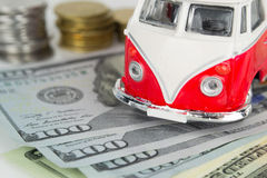 Campista viejo clásico de VW hecho por el Corgi imágenes de archivo libres de regalías
