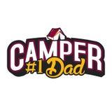Campista y papá Imagen de archivo