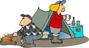 Campistas stock de ilustración