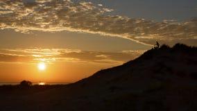 Campistas de la puesta del sol Foto de archivo libre de regalías