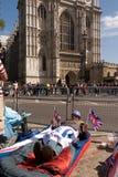 Campistas reales de la boda, abadía de Westminster. Fotografía de archivo libre de regalías