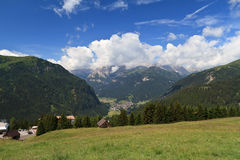 Campitello and Fassa valley Stock Photography
