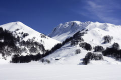 campitello matese手段滑雪 免版税库存照片
