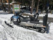 Campitello Matese - όχημα για το χιόνι αστυνομίας Στοκ Φωτογραφίες
